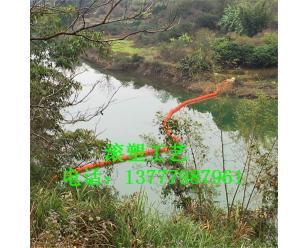 牡丹江水面防冲击弧形浮排 树枝拦污器