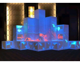 全息投影创意3D方格子