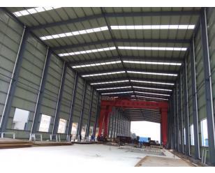 中国葛洲坝集团绩溪蓄能电站项目压力泵管加工厂4500平方钢构