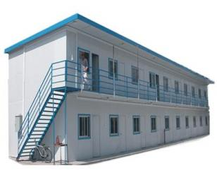 单坡拼板式彩钢活动房