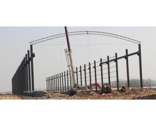 中国中铁商合杭站前十标钢构料仓5000平方