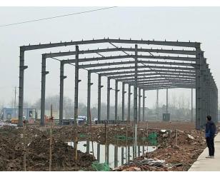 中铁四局钢构公司六安体育场钢筋加工棚