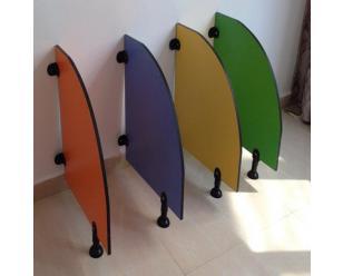 幼儿园卫生间隔断隔板儿童厕所隔板挡板好看时尚新颖小便挡板