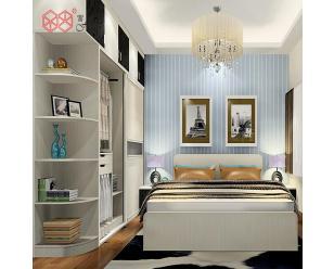 富滋雅简约时尚整体板式卧室衣橱多门柜子经济型木质衣柜