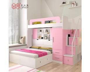 富滋雅直销上下床高低双层床子母床拼接床多功能组合储物板式床