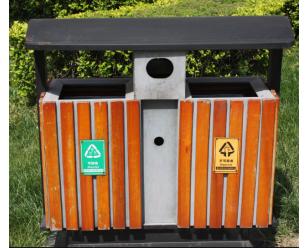 三分类户外垃圾桶