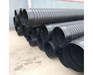 HDPE钢带增强螺旋波纹管300聚乙烯钢带管