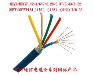 矿用阻燃电缆MHYV1*4*7/0.43矿用电缆MHYV1*4*7/0.52