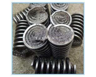 弹簧刷辊除锈除尘抛光 内绕钢丝弹簧刷辊毛刷 定做外绕弹簧刷辊
